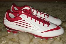 NEW Mens 12.5 NIKE Vapor Speed LAX Molded TD White Red Lacrosse Football Cleats