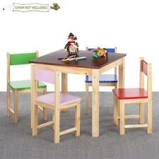 Solid Wood Child Kids Chair Stool Or Table Set Children Playroom School Q0S2