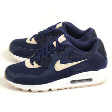 Nike Wmns Air Max 90 Binary Blue/Oatmeal-White Classic Running Shoes 325213-410
