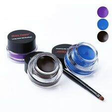 Sexy Makeup Waterproof Long Lasting Eye Liner Eyeliner Shadow Gel Cosmetic+Brush