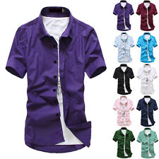 Stylish Mens Casual Slim Fit Short Sleeve Polo Shirt Fashion T-Shirts Tee Shirt'