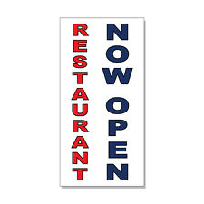 Restaurant Now Open Red Blue Bar Restaurant  DECAL STICKER Retail Store Sign