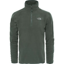 North Face 100 Glacier Quarter Zip Mens Jacket Fleece - Thyme All Sizes