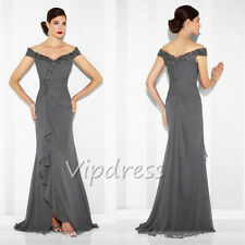 Off The Shoulder Mother Of The Bride Dresses Lace Appliques Sleeveless Gowns New