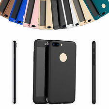 Durable 360° Full Body Protective Case Cover Tempered Glass For iPhone 7 Plus