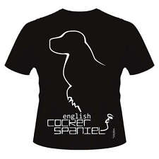 English Cocker Spaniel Dog Breed T-Shirts, Round-Neck Style, Dogeria Design