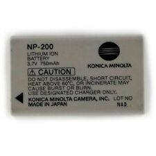 New Minolta NP200 Original 750mAh Battery For Minolta Dimage X XI XT XG BIZ
