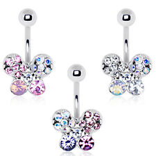 316L Stainless Steel Art of Brilliance Butterfly Gleam Belly Button Navel Ring
