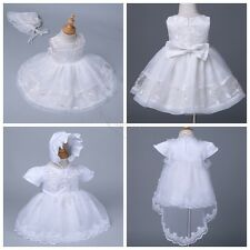 BABY INFANT TODDLER GIRL CHRISTINING BAPTISM Dress Gown Size 0 -24 Months
