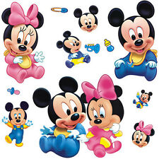 Mickey Mouse Minnie Vinyl Mural Wall Sticker Decals Kids Removable Nursery Room