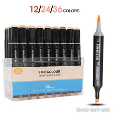 FINECOLOUR brush Marker Pens Skin Tones Artist Dual Head 12/24/36 Colors Set