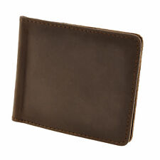 Genuine Leather Mens Money Clip Wallet Card Slim Id Front Pocket Holder Credit