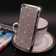 Bling Swarovski Element Crystal Diamond Silver Soft case For iphone 6 6s {a222