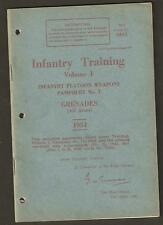 BRITISH  ARMY INFANTRY TRAINING PAMPHLET No 7 VOL 1 GRENADES (ALL ARMS)