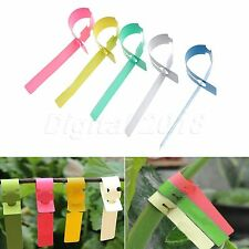 100pcs Plastic Garden Plant Tied Tags Labels Blank Display Flowers Pot Markers
