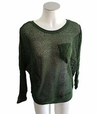 Ladies Green Knitted Casual Jumper with Pocket - Ajoy FREE SIZE