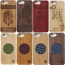 Hybrid Real Natural Wood Wooden Bamboo Hard Bumper Case Cover For iPhone 6/6s