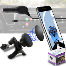 Magnetic Air Vent In Car Holder & Car Charger for Samsung T879 Galaxy Note