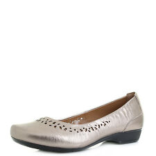 Womens Clarks Blanche Garryn Gold Metallic Leather Ballerina Shoes D Fit Size