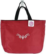 Peacock Damask Monogram Custom Embroidered Essential Tote Bag NWT