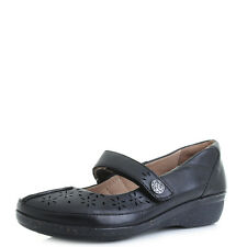 Womens Clarks Everlay Bai Black Flat Mary Jane Leather Shoes - D fit Size