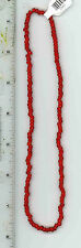 Vintage Venetian Murano Italy 1 Strand Glass Red White Hearts African Trade Bead
