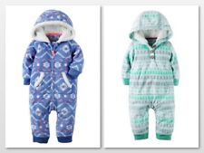 Carters Hooded Fleece Jumpsuit One Piece Winter Snow Baby Girl 3 6 9 12 Months