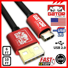 Reversible Micro USB Cable Cord Charger Sync Data Samsung S S3 S4 S6 S7 LG HTC