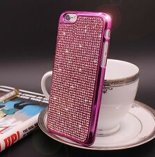 Bling Swarovski Element Crystal Diamond Pink Soft case For iphone 6 6s {d297