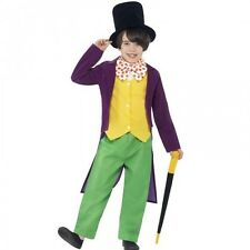 Willy Wonka Fancy Dress Up Costume Roald Dahl Kids Child's World Book Day Outfit
