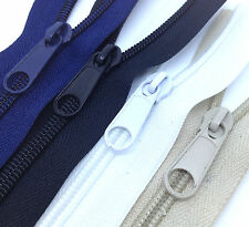 5 meters SIZE 8 Continuous Zip Zippers, inc 5 Slides, choice of 4 COLOURS