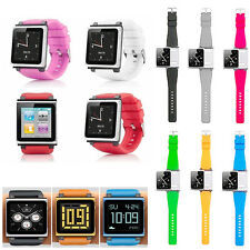 Band Wrist Silicone Watch Strap Cover for Apple iPod Nano 6th generation