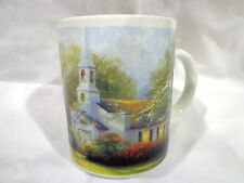 2005 Thomas Kinkade Forrest chapel coffee mug