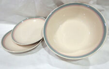 vintage Pfaltzgraff dishes,2-salad plates,1-vegetable bowl,Aura-pink