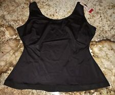 NEW Womens 2X SPANX Black Slimplicity Scoop Neck Cami Control Shapewear Tank Top