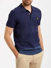 Lyle And Scott Mens Reverse Stripe Polo SP604V-Navy