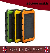 Solar 10000mAh Power Bank Portable USB Battery Charger For iPhone, Samsung, LG