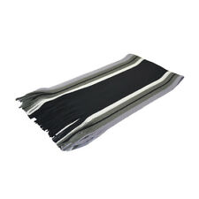 Unisex Tasseled Fringe Stripes Pattern Color Block Wrap Shawl Scarf