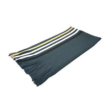 Unisex Tasseled Fringe Stripes Pattern Long Wrap Shawl Scarf