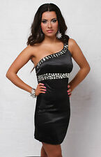 Sexy women's One Shoulder Dress Evening Cocktail Party Pencil Dress Size 8-12