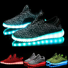 Unisex USB Charger Men Women LED Lights Lace Up Shoes Sportswear Casual Sneaker