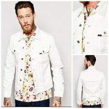 NEW LEE RIDER DENIM JACKET  WHITE/ECRU SLIM FIT  WESTERN 101  S/M/L/XL/XXL