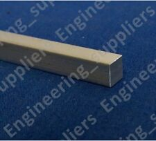 "1/4"" Aluminium Square Solid Bar/Rod 50, 100, 150, 200, 300, 500 & 600mm Long"