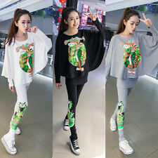 Autumn outfit new Korean fashion beautiful leisure trend loose Ms. sweat suit
