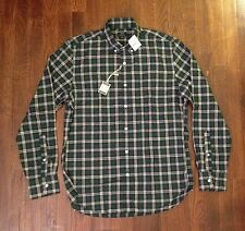 NEW NWT J Crew Mens Green Button-Front Plaid Shirt Sizes XS S M XL $60