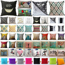 18''x18'' Cotton Linen Cushion Cover Bed Sofa Pillowcase Home Decor Pillow Case
