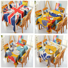 100x140cm RETRO Tablecloth Table Cover Linen Table Cloth Dining Square MagiDeal