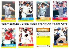 2006 Fleer Tradition Baseball Set ** Pick Your Team **