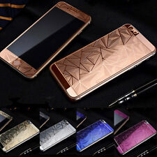 3D Diamond Color Temper Glass Front +Back Screen Protector For iPhone 6s plus #j