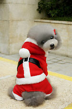 Christmas Santa Claus Pet/Dog/Cat Costume/Outfit/Clothes/Hoodie
